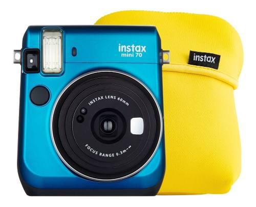 Cámara Instantánea Fujifilm Instax Mini 70 Azul Más Funda