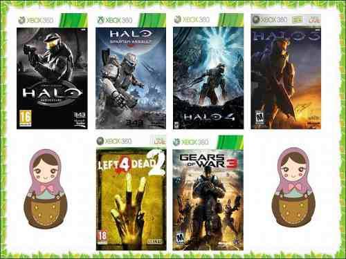Juegos De Xbox 360 Halo, Gears + Regalo Black Ops Iii Bundle
