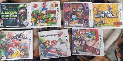 Juegos Nintendo 3ds Mario Kart Smash Bros Ma 3dland Lote