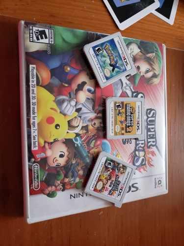 Juegos Nintendo 3ds Pokemon X Smash Bros New Mario Bros 2