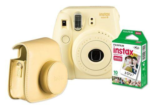 Kit Fujifilm Instax Mini 8 Amarillo + 10 Películas Y Funda