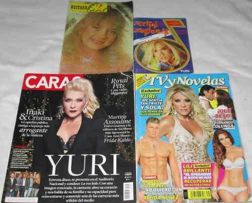 Yuri Lote De 4 Revistas, Tvynovelas, Caras, Notitas