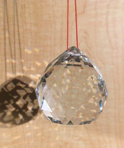 10 Esferas Cristal Facetada Feng Shui Armonizar Energia 6 Cm