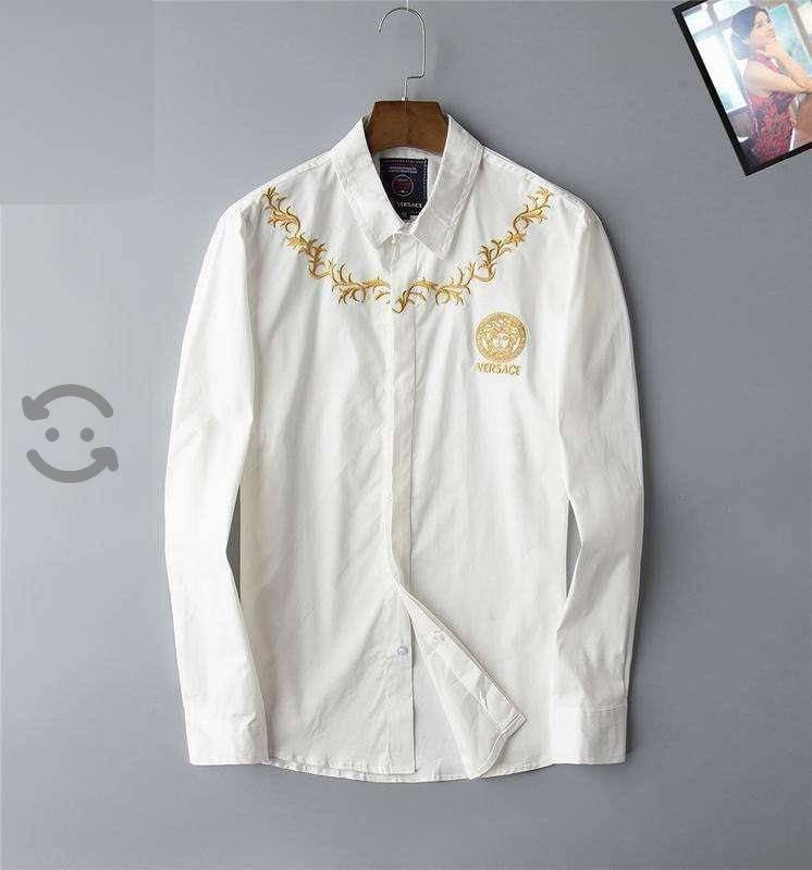 Camisa Versace Bordada Blanc para Hombre Caballero
