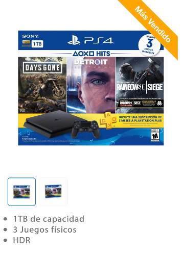 Consola Ps4 Slim De 1 Tera Hit Bundle 5+otro Juego De Regalo