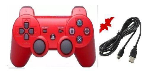 Control Ps3 Rojo + Cable De Regalo Envio Gratis