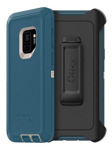 Funda Holster Clip Galaxy S9 Normal Otterbox Defender Azul