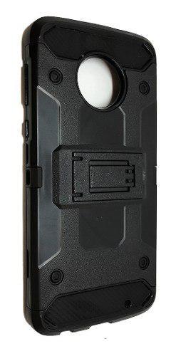 Funda Uso Rudo Robot Case Clip Motorola Moto G6 + Vidrio