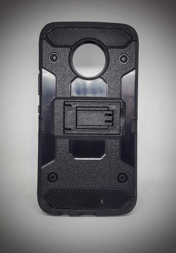 Funda Uso Rudo Robot Case Con Clip Motorola E4 Vidrio Gratis