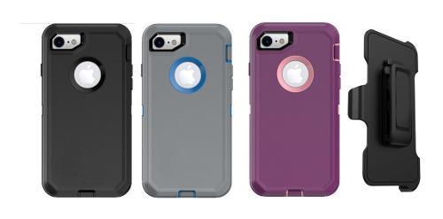 Funda iPhone 6 7 8 78 Plus X Uso Rudo Defende + Clip Mica