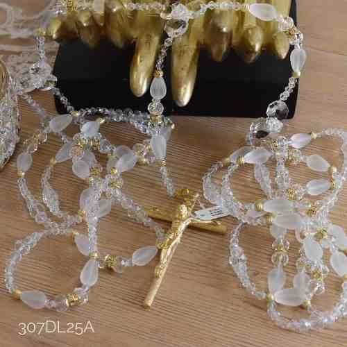 Lazo Matrimonial Boda Con Estuche Cristal Cortado 307d