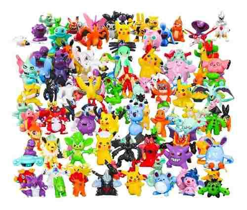 Set 144 Figuras Juguete Pokemon Al Azar 3cm Pikachu Incluido