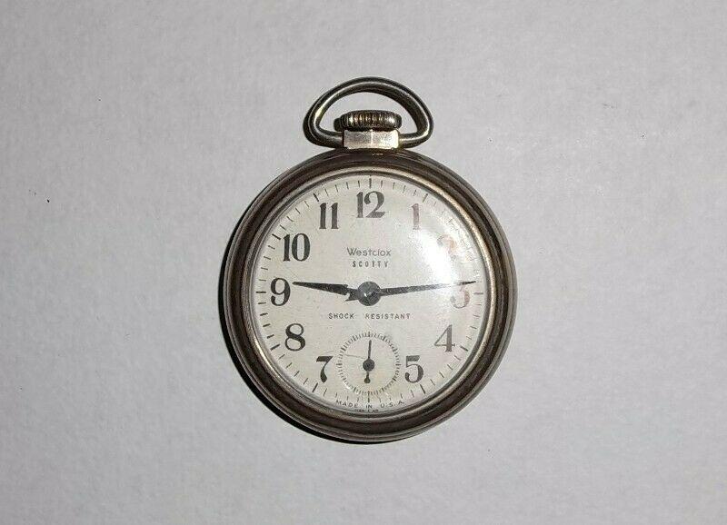 Antiguo reloj Westclox de bolsillo hecho en USA 50s