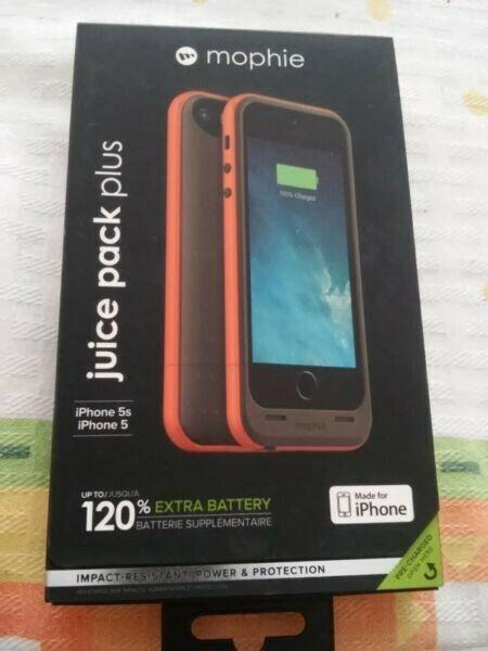 Bateria Mophie Nueva para iphone 5 Y 5S, es protector