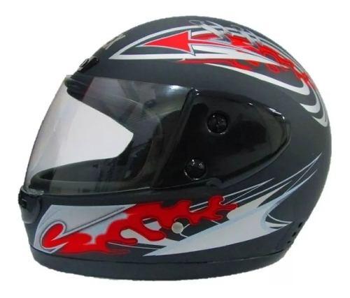 Casco Abatible Motocicleta Barato Deportivo Negro Mate