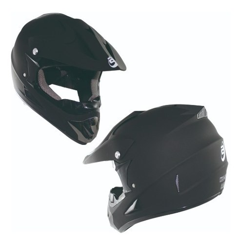 Casco Tipo Cross Moto Negro Mate Dot Tallas