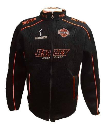 Chamarra Harley Davidson Negra Caballero Envió Gratis Msi