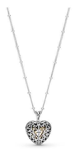 Collar Y Dije Pandora Gate Of Love Plata Esterlina Ale S925