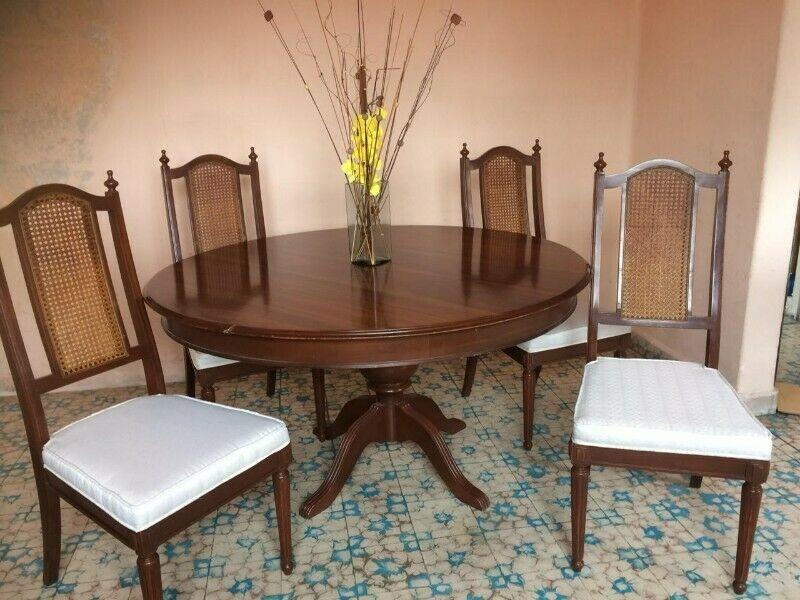 Comedor 4 de madera Caoba 4 sillas