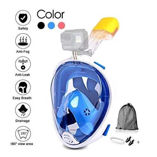 Jasonwell Mascara Buceo Snorkel Snorkling Cara Completa L X