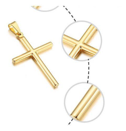 Medalla Dije De Cruz En Oro Solido 10k 3.9cm + Envío Gratis