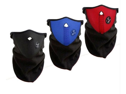 Máscara De Neopreno Para Motociclista Negro Rojo Azul Cd