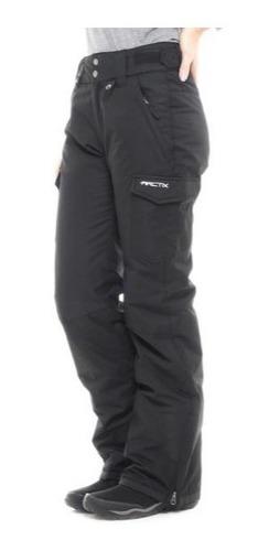 Pantalón Mujer Térmico Aislante Bolsa Cargo Nieve