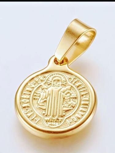 San Benito Mini Medalla (acero Inoxidable)
