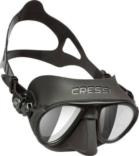 Visor Máscara Para Apnea Calibro Hd Lenses Negro Cressi