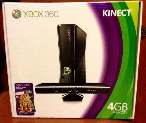 Xbox 360 Nuevo 4gb Con Kinect Y Un Juego