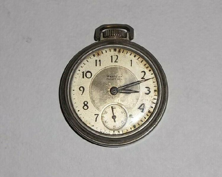 Antiguo reloj Westclox Pocket Be de bolsillo USA 50s