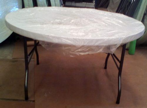 Mesa Redonda Plegable De 1.50 M Plastico Soplado
