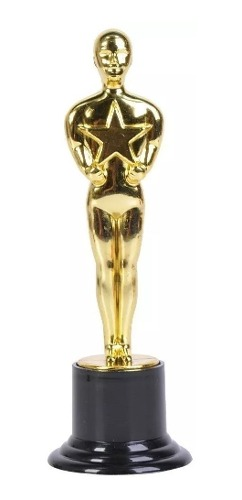 1 Estatuilla 15cm Premio Oscar Graduacion Trofeo Hollywood