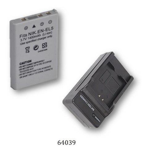 Cargador + Bateria Mod. 64039 Para Nikon Coolpix P510