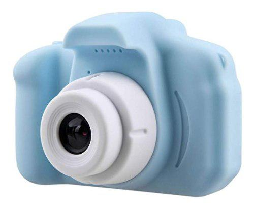 Cámara Azul Digital Recargable Con Videocámara Para Niños