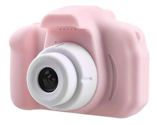 Cámara Rosa Digital Recargable Con Videocámara Para Niños
