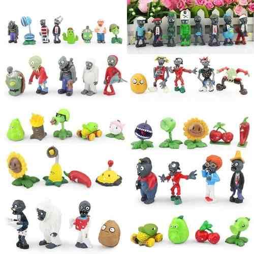Plantas Vs Zombies Pvc, 8 Figuras Juguetes Coleccion