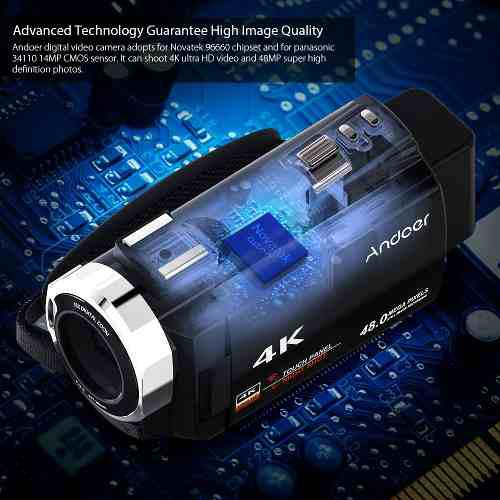 Videoc?mara Digital Andoer 4k 1080p 48mp Wifi