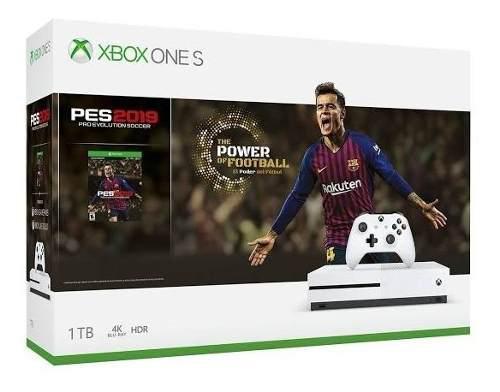 Consola Xbox One S 1 Tb +pro Evolution Soccer 2019 Nueva