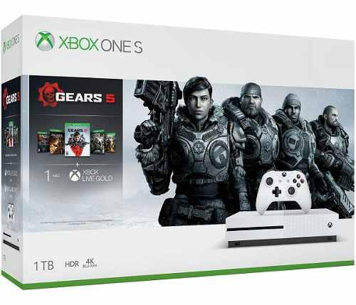 Consola Xbox One S 1tb 4k Hdr Gears 5 Colección Completa