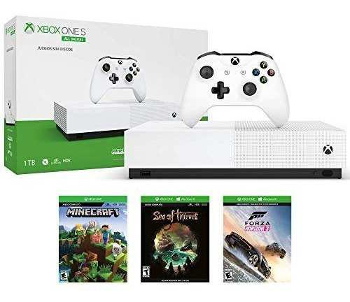 Consola Xbox One S 1tb All Digital Con 3 Juegos 1 Mes Gold