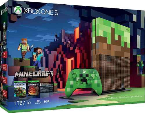 Consola Xbox One S 1tb Edición Limitada Minecraft Df