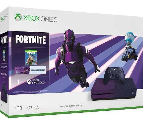 Consola Xbox One S 1tb Fortnite (caja Maltratada)