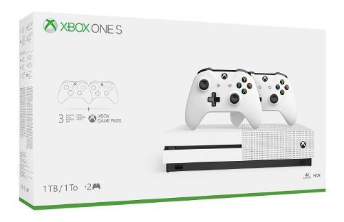 Consola Xbox One S 1tb Hdd 2 Controles + Envio Gratis Promo