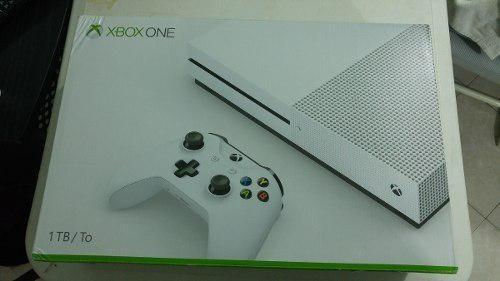 Consola Xbox One S, De 1 Tb Blanca, En Caja, A 12 Meses