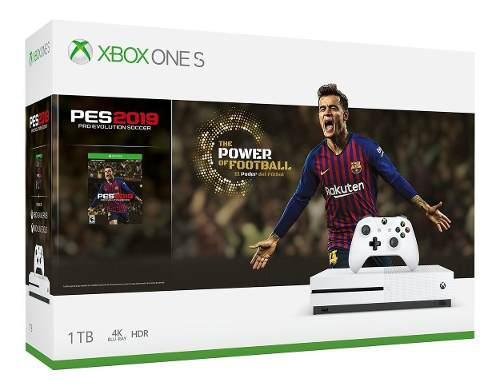 Consola Xbox One S De 1tb + Pes 19