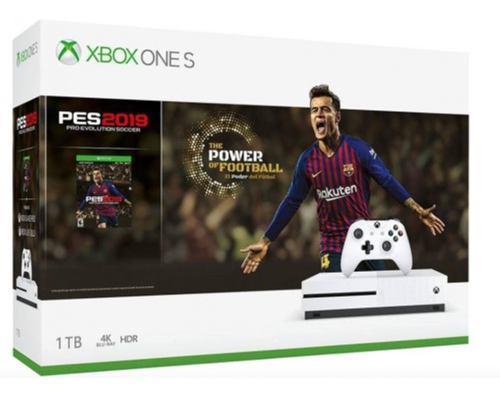 Consola Xbox One S De 1tb Pes Nueva Y Sellada