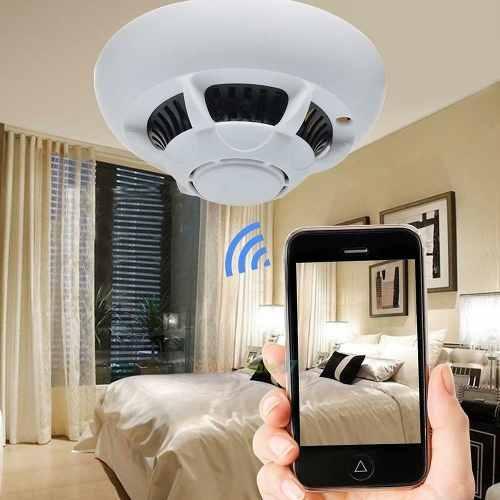 Hd p Wifi Espía Cámara Oculta Detector De Humos