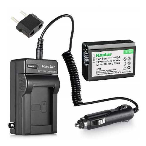 Kit Batería Y Cargador Kastar Np-fw50 Para Sony Alpha Y Nex