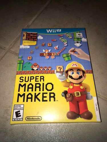 Mario Maker Para Wii U !!! Sellado De Fábrica -new-